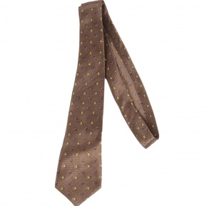 UNICARRESS Polka Print Men's Tie (Brown) RA-TY-125A