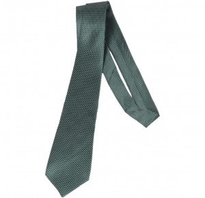 UNICARRESS Polka Print Men's Tie (Green) RA-TY-123A