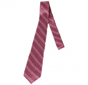 UNICARRESS Striped Men's Tie ( Pink, Red)  RA-TY-122E