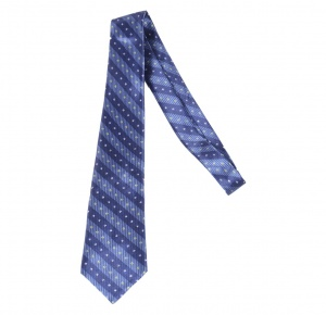 UNICARRESS Striped Men's Tie (Blue)  RA-TY-122C