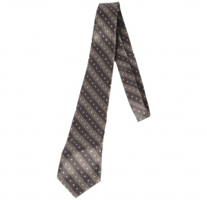 UNICARRESS Striped Men's Tie (Grey) RA-TY-122D