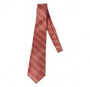 UNICARRESS Striped Men's Tie (Red, Black) RA-TY-122B