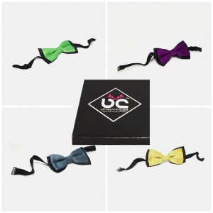 UNICARRESS Stylish Microfiber Dual Shade Neck Bows Pack Of 4 (UC-NB-COMBO-01)