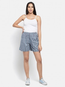 Stylish Grey Stripe Printed Night And Day Shorts (Z-NS-07A)