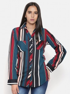 Zinniars Multi Tone Stripe  Regular Fit Formal Shirt For Women (Z-2X-TnB-002A)