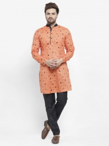 Men Cotton Rich Kurta Pajama Set (S9-KP-702B)