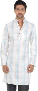 MEN Checkered Men's A-line Kurta  (Multicolor,S9-MK-602D))