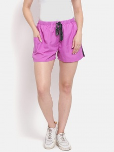 Sporty Look Stylish Cotton woven Light Purple colored shorts for women of all ages (Z-DS-001A)