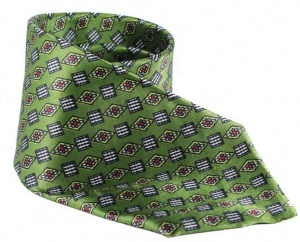 UNICARRESS Geometric Print Men's Tie (Green) RA-TY-103B