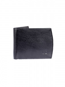 UniCarress- 6 Card Slots Casual & Formal Black Artificial Leather Wallet For Men (Black) UC-MW-014