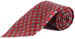 UNICARRESS Geometric Print Men's Tie (Red) RA-TY-103C