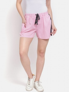 Zinniars Sporty Look Stylish Cotton woven shorts for women of all ages(Z-DS-001G)