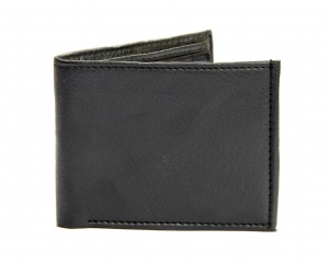 Uni Carress- 6 Card Slots Casual & Formal Black Artificial Leather Wallet For Men (Black) UC-M-W-01