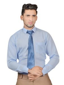 S9 Men Solid Formal Cotton Blend Shirt For Men(Office BLue)  -S9-FS-253B COMBO