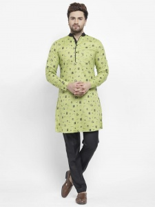 Men Cotton Rich Kurta Pajama Set (S9-KP-702A)