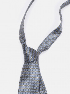 UNICARRESS Checkered Men's Tie (Grey) RA-TY-127A