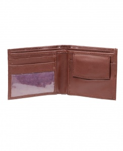 Uni Carress- 6 Card Slots Casual & Formal Brown Artificial Leather Wallet For Men (Brown) UC-M-W-03