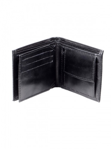 UniCarress- 6 Card Slots Casual & Formal Black Artificial Leather Wallet For Men (Black) UC-MW-10