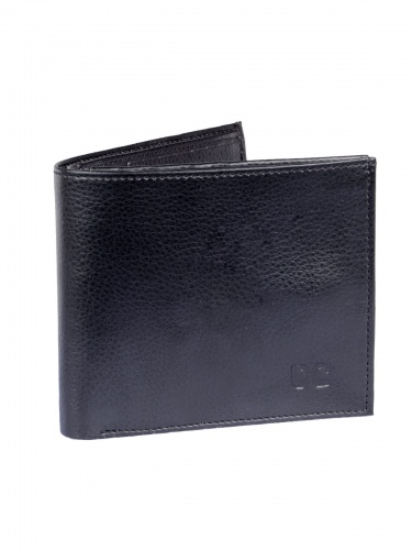 UniCarress- 6 Card Slots Casual & Formal Black Artificial Leather Wallet For Men (Black)UC-MW-016