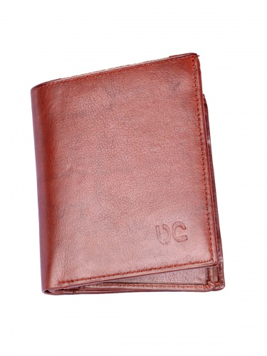 UniCarress- 6 Card Slots Casual & Formal Tan Artificial Leather Wallet For Men(Tan) UC-MW-020