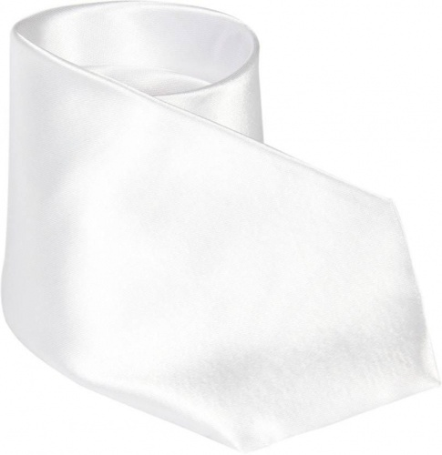 UNICARRESS Solid Men's Tie (White) Carma-Ty-303