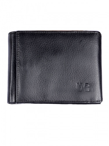 UniCarress- 6 Card Slots Casual & Formal Black Artificial Leather Wallet For Men (Black) UC-MW-018